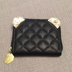 NWOT Betsey Johnson Wallet Quilted w/Gold Details